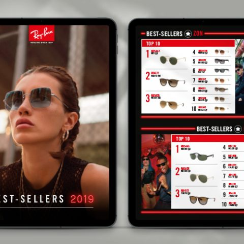 Ray-Ban bestseller booklet
